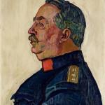 Ferdinand Hodler (1853-1918) - Portrait du général Ulrich Wille, 1915