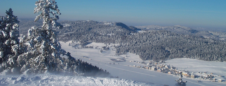 Vallée de La Sagne en hiver