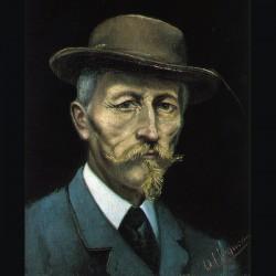 Autoportrait d'Oscar Huguenin